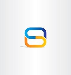 blue orange letter s logo symbol design logotype vector image vector image
