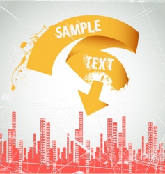 city ribbon frame vector image vector image