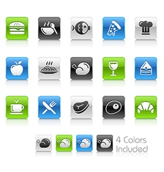 Food Icons 1 Clean Series vector image vector image