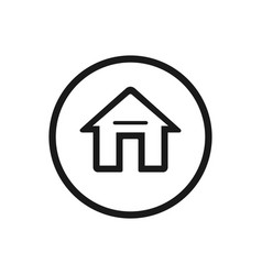 home icon on a white background vector image