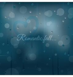 Rainy autumn romantic background vector image vector image