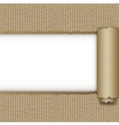 Torn brown paper box vector
