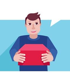 delivery man vector image