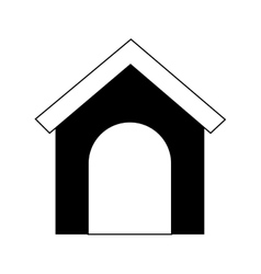 dog house silhouette vector image