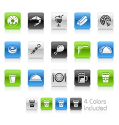 Food Icons 2 Clean Series vector image vector image
