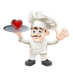 food lover heart chef vector image