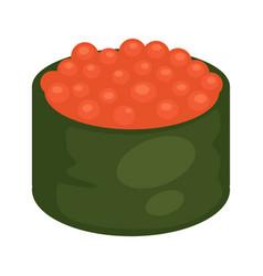 maki sushi with caviar vector image vector image