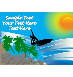 surfer on sea vector image vector image