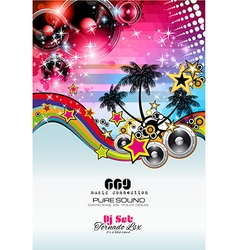 Music Themed background to use for Disco Club vector image vector image