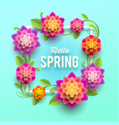 springtime greeting card with flowers vector image