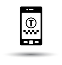 taxi service mobile application icon vector image