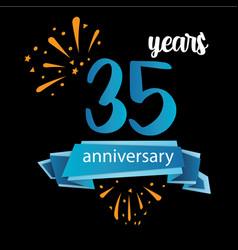 35 anniversary pictogram icon years birthday logo vector image