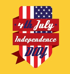 4th July American Independence Day Design vector