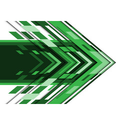 Abstract green white arrow geometric direction vector