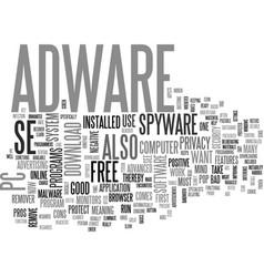 Adware se text word cloud concept vector