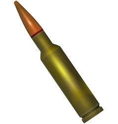 Ammunition with a bullet for the weapon vector