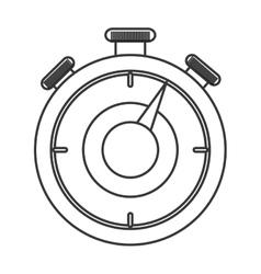 Analog chronometer icon vector
