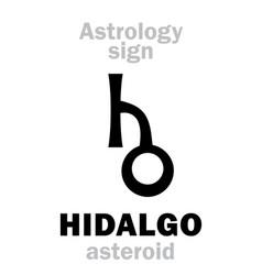 astrology asteroid hidalgo vector image