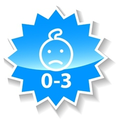 Baby ban blue icon vector