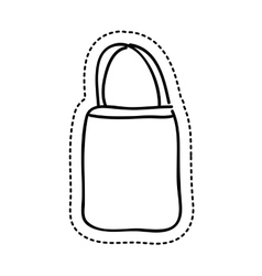 Bag female drawing icon vector