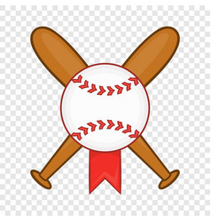 baseball with bats icon cartoon style vector image