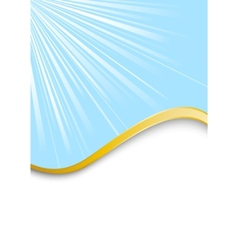 blue beautiful background with golden rim vector image