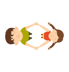 Boy and girl are spinning vector