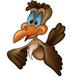 Brown cuckoo vector