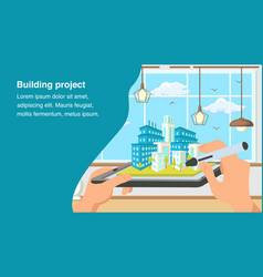 building project website banner template vector image