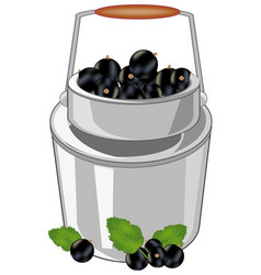 Can with berry currant vector