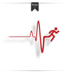 Cardiogram heart stop and death vector