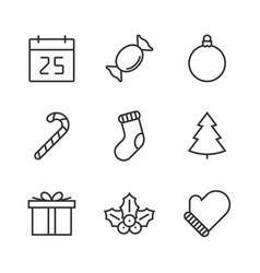 Christmas line icon vector