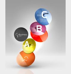 Circle modern business infographics design vector