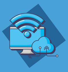 cloud storage design vector image