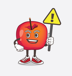crab apple cartoon mascot character rise up vector image