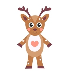 Cute cartoon character deer Children s toy deer vector image