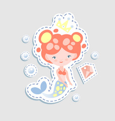 Cute little mairmaid - cartoon vector