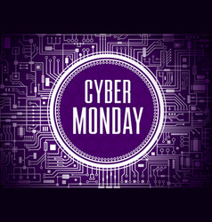 Cyber monday sale banner vector