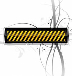 Danger pattern vector