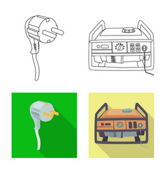 design of electricity and electric symbol vector image