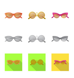 Design of glasses and sunglasses symbol vector