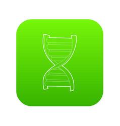 dna strand icon green vector image