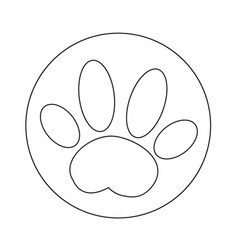 dog paw icon design vector image