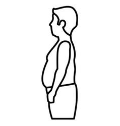 Fat man shirtless character vector