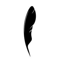 feathers pen black icon silhouette logo goose vector image