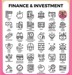 Finance investment concept line icon vector