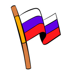 flag of russia icon cartoon vector image