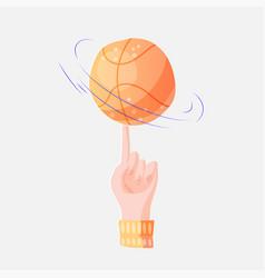 flat basketball ball on a vector image