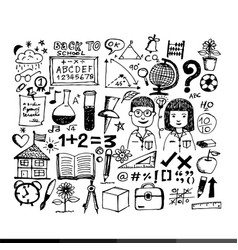 Free hand draw business doodles design vector