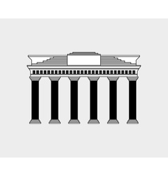 German architecture building vector